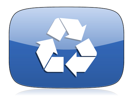 recycling sign: recycle icon recycling sign Stock Photo