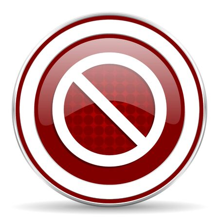 access denied: access denied red glossy web icon Stock Photo