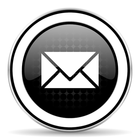 email icon, black chrome button, post sign photo