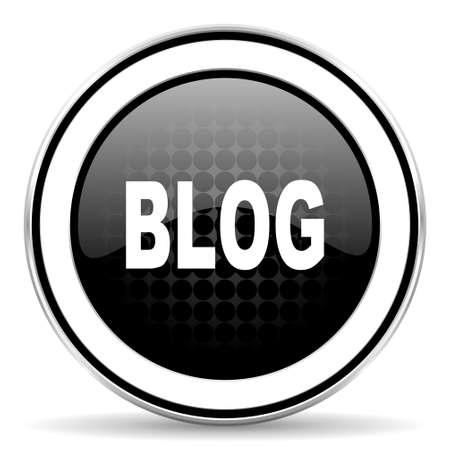 blog icon: blog icon, black chrome button