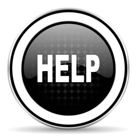 help icon: help icon, black chrome button