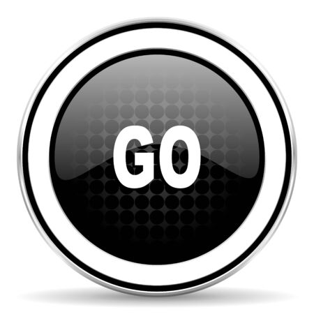 approval button: go icon, black chrome button
