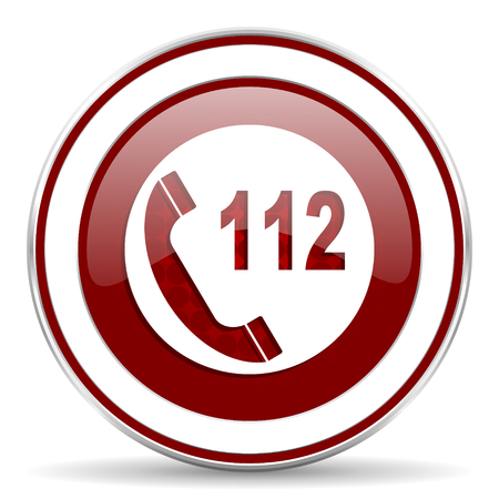 emergency call red glossy web icon photo