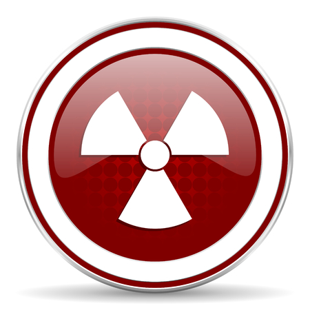 radiation red glossy web icon photo