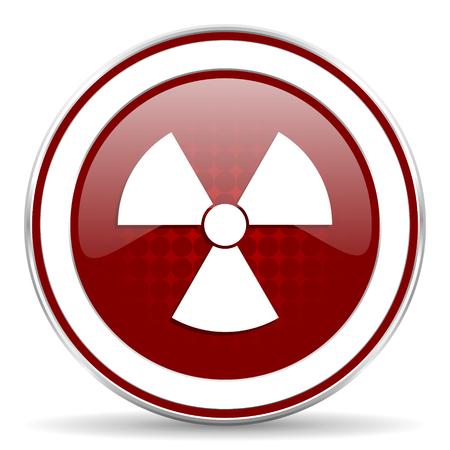 gamma radiation: radiation red glossy web icon