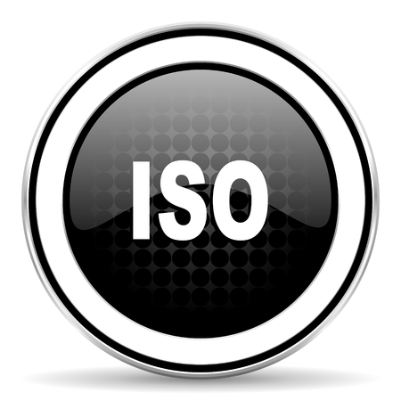 standard steel: iso icon, black chrome button