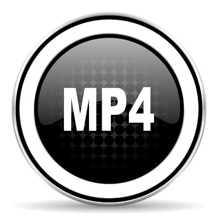 chrome: mp4 icon, black chrome button