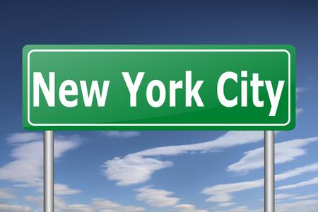 city road: new york city road sign Stock Photo
