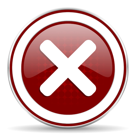cancel red glossy web icon photo