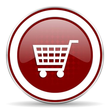 cart red glossy web icon photo