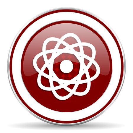 atom red glossy web icon photo