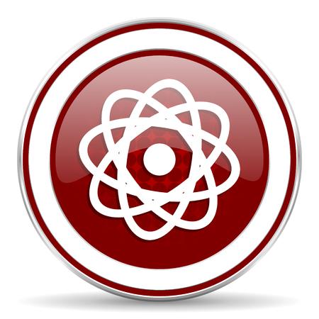 atom red glossy web icon photo