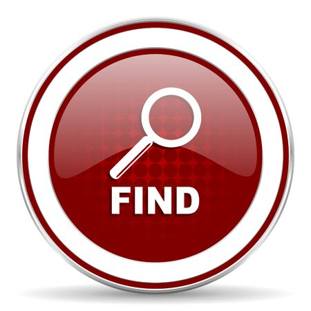 to find: find red glossy web icon