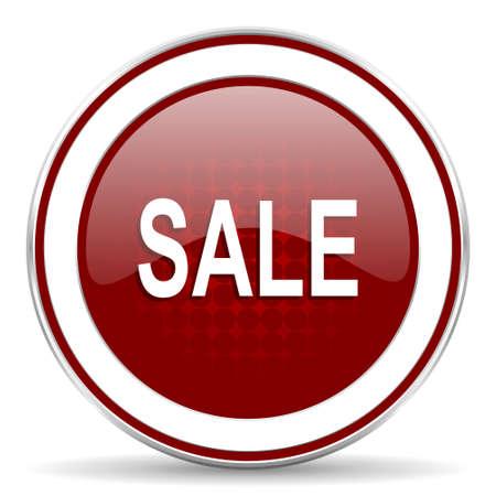icono web: venta icono rojo brillante Web