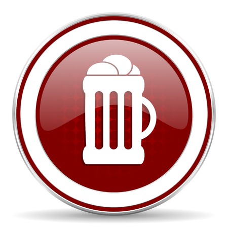 beer red glossy web icon photo