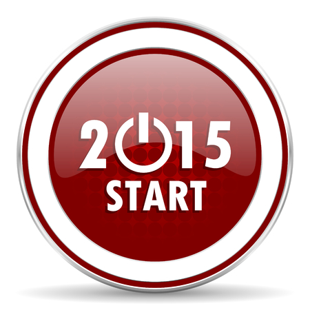 next year: new year 2015 red glossy web icon