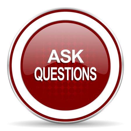 poser des questions icône rouge web glacé