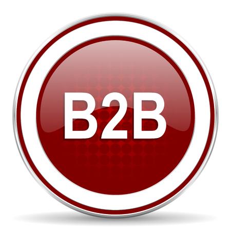b2b: b2b icono rojo brillante Web Foto de archivo