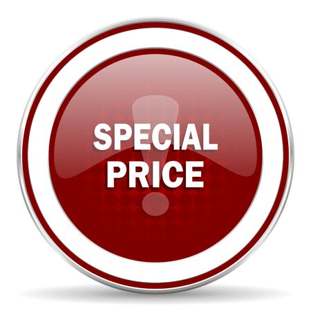 special price: special price red glossy web icon Stock Photo