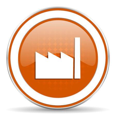 factory orange icon photo