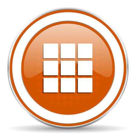 thumbnails: thumbnails grid orange icon