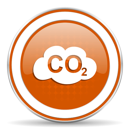 dioxide: carbon dioxide orange icon