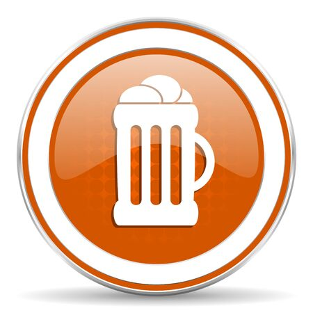 cereal bar: beer orange icon Stock Photo