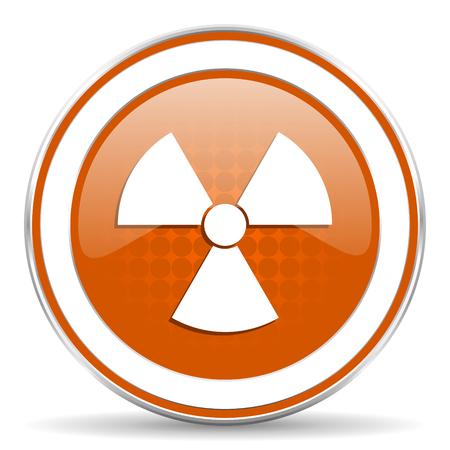 radiacion: icono naranja de radiación
