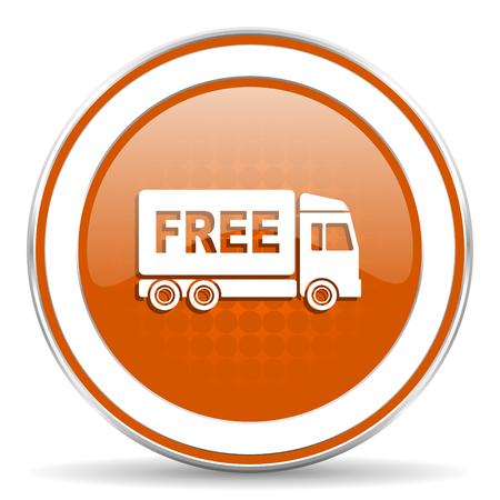 d�livrance: livraison gratuite ic�ne orange Banque d'images