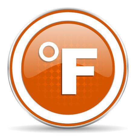 fahrenheit: Icono naranja Fahrenheit