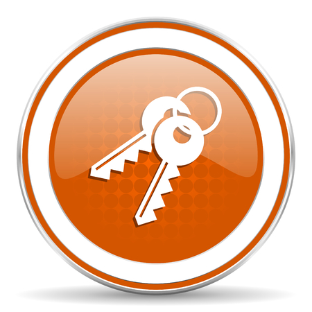 keys orange icon photo