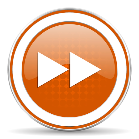 rewind orange icon photo