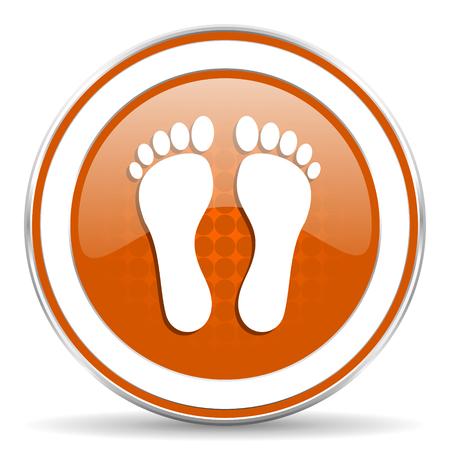 foot orange icon photo