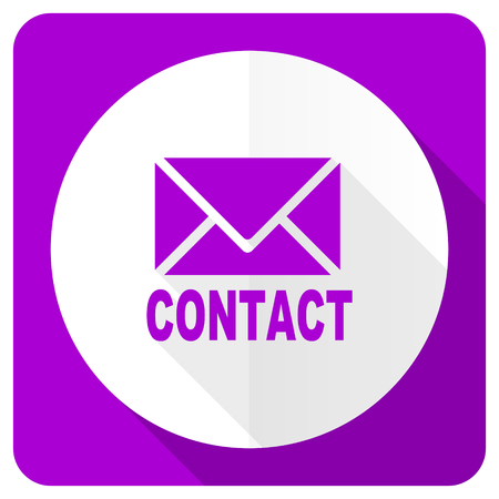 email contact: email pink flat icon contact sign