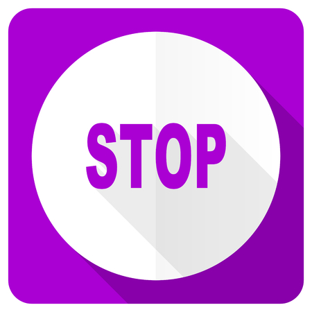 proscribed: stop pink flat icon Stock Photo