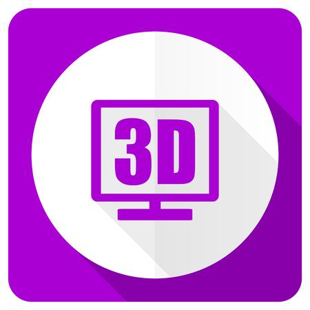 programm: 3d display pink flat icon