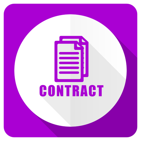 icom: contract pink flat icon Stock Photo