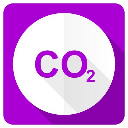 dioxido de carbono: dióxido de carbono rosa icono plana signo co2 Foto de archivo