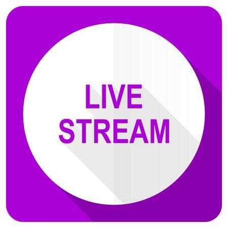 live stream tv: live stream pink flat icon