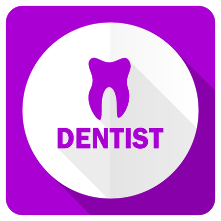 dentist pink flat icon photo