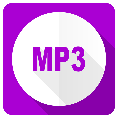 mp3: mp3 pink flat icon
