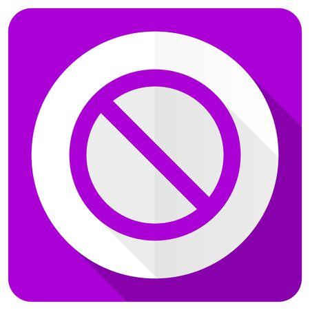 denied: access denied pink flat icon
