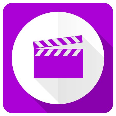 video pink flat icon cinema sign photo