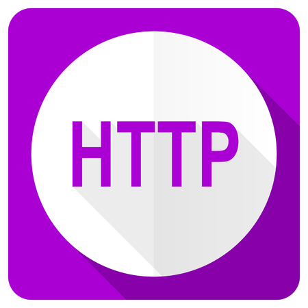 http: http pink flat icon Stock Photo
