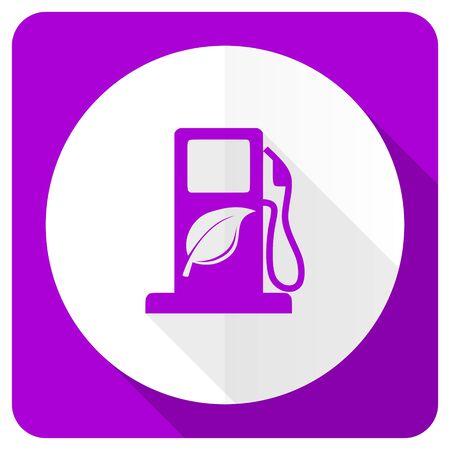 agro: biofuel pink flat icon bio fuel sign