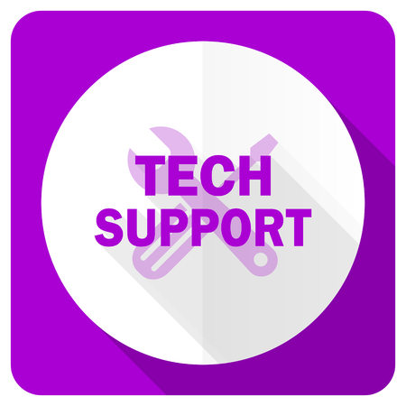 technical support: technical support pink flat icon Stock Photo