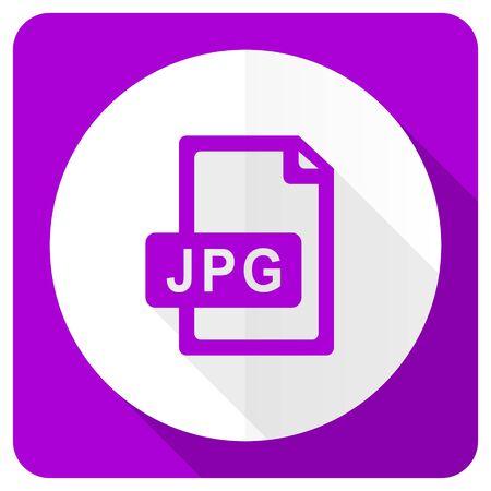 jpg: jpg file pink flat icon