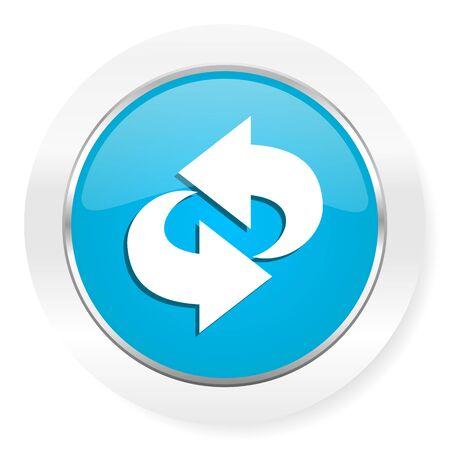 rotation: rotation icon refresh sign Stock Photo