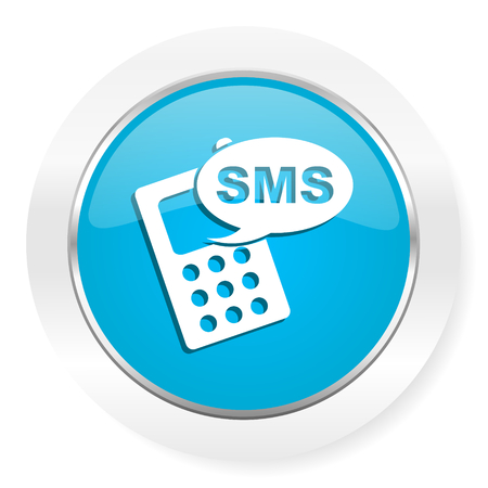 sms icon: sms icon phone sign Stock Photo
