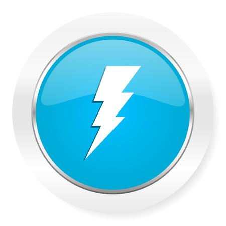 electricidad: perno signo icono de flash